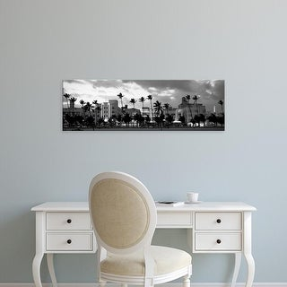 Easy Art Prints Panoramic Images's 'Buildings Lit Up At Dusk, Ocean Drive, Miami Beach, Florida, USA' Canvas Art