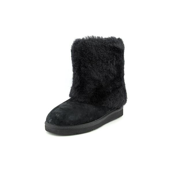 Ugg Australia Patten Women Round Toe Suede Black Winter Boot