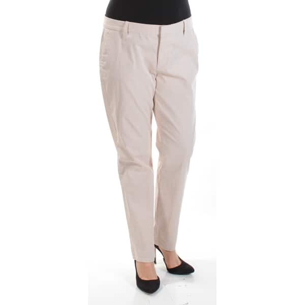 9b5d95268 Womens Beige White Striped Wear To Work Straight leg Pants Size 12. Image  Gallery