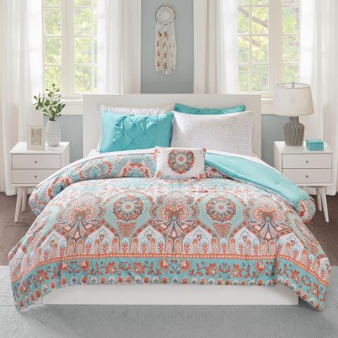 Avery Aqua Comforter and Sheet Set by Intelligent Design