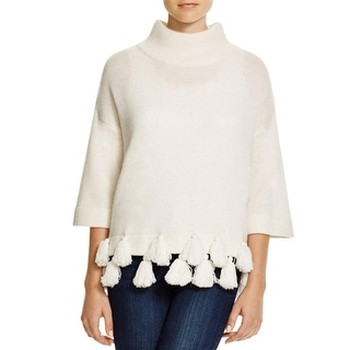 French Connection Womens Pullover Sweater Wool Tassel - M