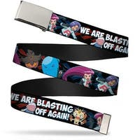 Blank Chrome  Buckle Team Rocket & Pokemon We Are Blasting Off Again! Web Belt - S