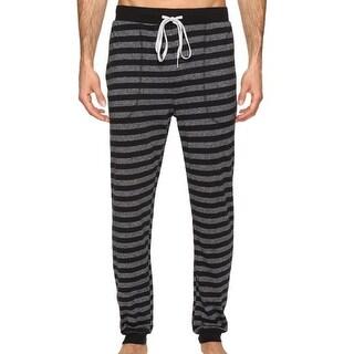 Kenneth Cole Reaction NEW Black Mens Size Large L Striped Lounge Pants