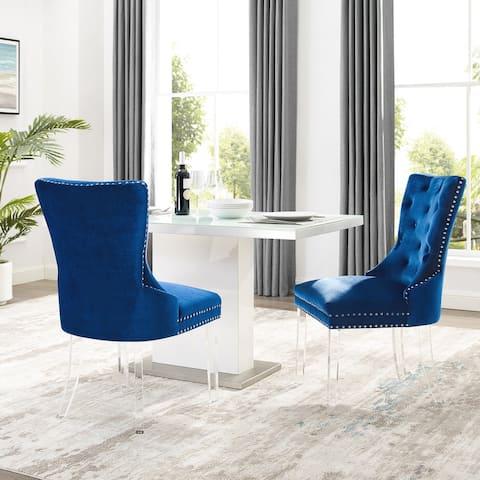 Braff Velvet Tufted Dining Chairs by Corvus (Set of 2)