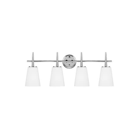 Sea Gull Driscoll Cased Opal Etched Glass Vanity Fixture