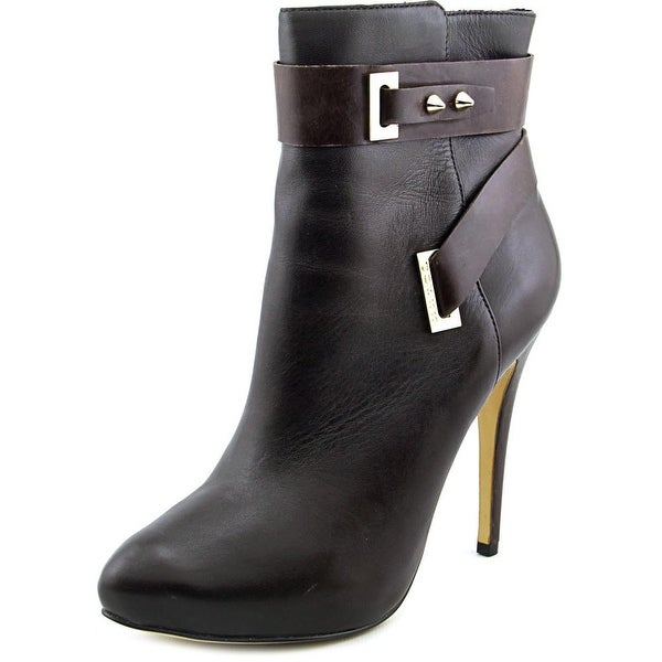 41148297e16 Shop Guess Shanda Women Pointed Toe Leather Brown Ankle Boot - Free ...