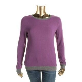 Celebrity Pink Womens Juniors Sweatshirt Solid Contrast Trim
