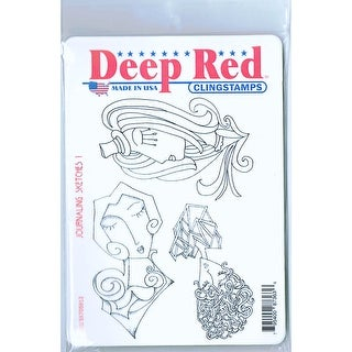 Link to Deep Red Stamps Journaling Sketches 1 Rubber Cling Stamps - 4 x 6 Similar Items in Stamping