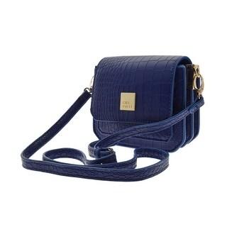 Cicel Girl PU Leather Shoulder Square Bag Ladies Small Handbag Blue