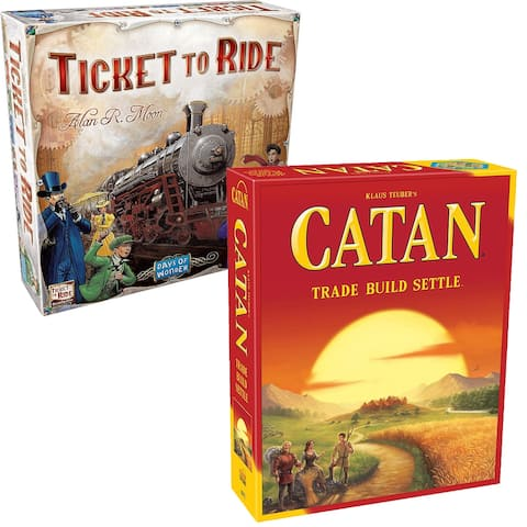 Settlers of Catan AND Ticket to Ride Game Bundle - (2 games)