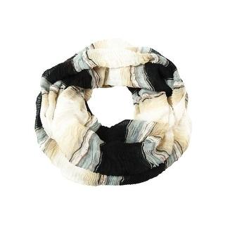 Cejon Women's Striped Ruched Infinity Scarf - os