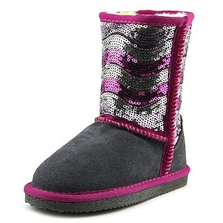 Lamo Stripy Youth Round Toe Synthetic Gray Winter Boot