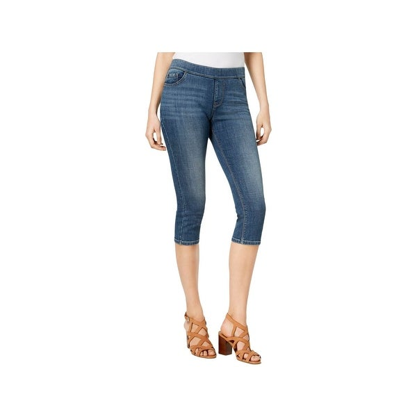 Lee Womens Harmony Capri Jeans Denim Mid-Rise