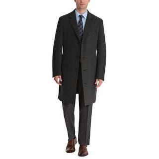 28601a2237d Bar III Mens Slim Fit Wool-Blend Top Coat 46R 46 Regular Charcoal Overcoat