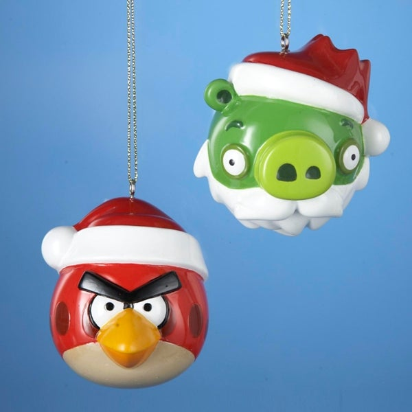 Club Pack of 24 Angry Birds Red Bird and Green King Pig Christmas Ornaments - Shop Club Pack Of 24 Angry Birds Red Bird And Green King Pig