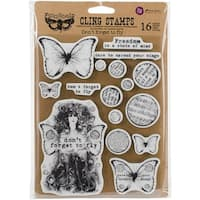 """Prima Marketing Finnabair Cling Stamps 6""""X7.5""""-Don't Forget To Fly"""
