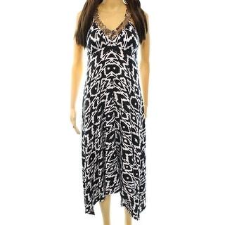 INC NEW Black Bead Embellished Women's Size XS Empire Waist Dress