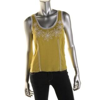 Catherine Malandrino Womens Blouse Silk Applique - 4