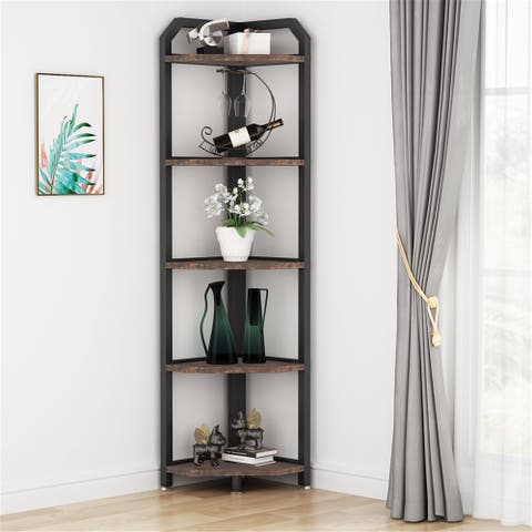 5 Tier Corner Shelves, Corner Display Shelf