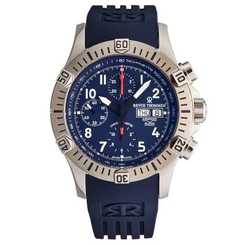 Revue Thommen Men's 16071.6825 'Airspeed' Blue Dial Day-Date Chronograph Automatic Watch
