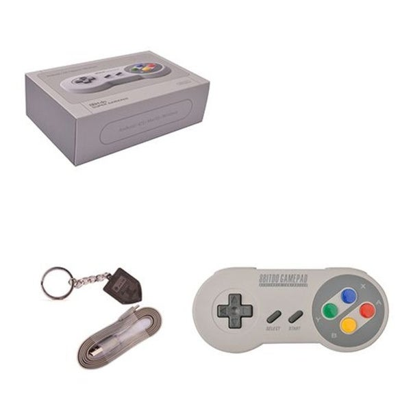 8Bitdo Grey Wireless Bluetooth SFC30 Mobile Controller for iOS Android/ PC