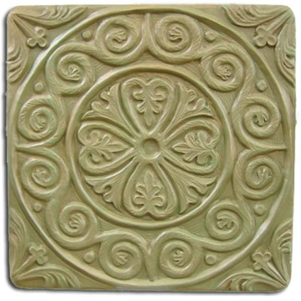 Garden Molds X MEDTIL8049 Medieval Tile Stepping Stone Mold  Set Of 2