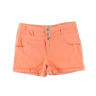 Celebrity Pink Jeans Womens Juniors Casual Shorts Twill Cuffed