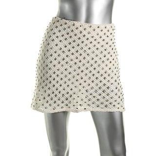 Zara Basic Womens Crochet Jeweled Mini Skirt - XS