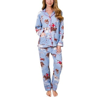 PJ Salvage Bronco Flannel Pajama Set - Denim