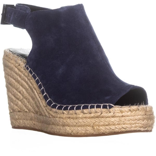 Kenneth Cole Olivia Espadrille Mule Sandals, Navy