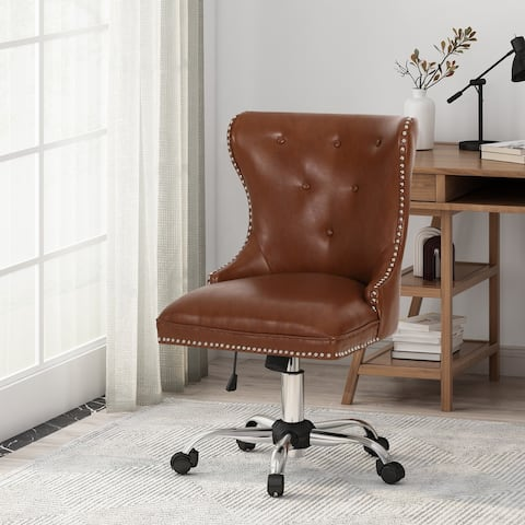 Bedell Contemporary Tufted Swivel Office Chair by Christopher Knight Home