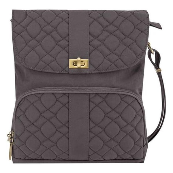 667afa745d8f Travelon Anti-Theft Signature Quilted Messenger Bag Smoke - us one size  (size none