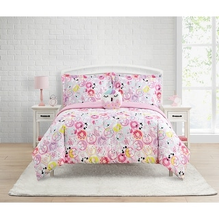Link to Donut Critters 4-Piece Comforter Set Featuring Unicorn Donut Decorative Pillow Similar Items in Comforter Sets