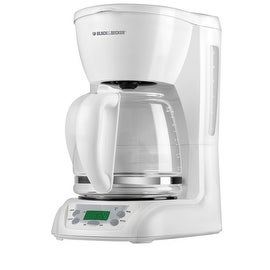 Black & Decker DLX1050W Programmable Coffee Maker, 12-Cup, White