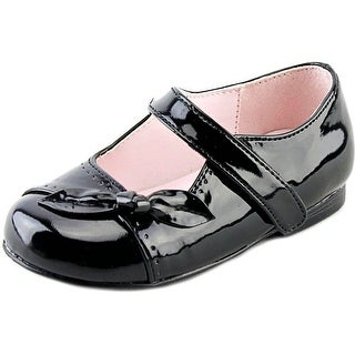 Olive & Edie Carla Toddler Round Toe Synthetic Black Mary Janes