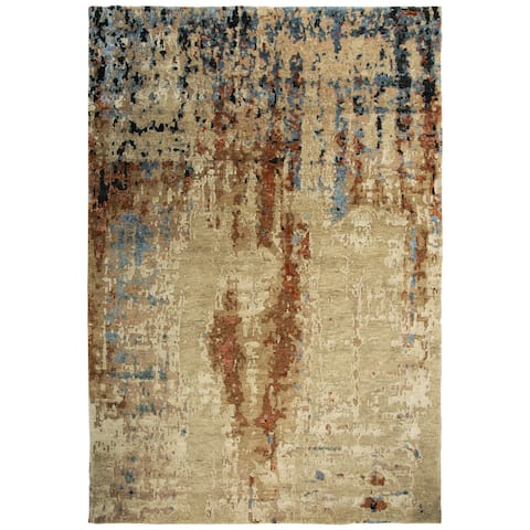 Alora Decor Noble Collection Beige Abstract Rug