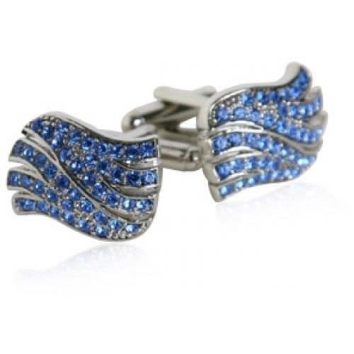 Sapphire Blue Wave Cufflinks