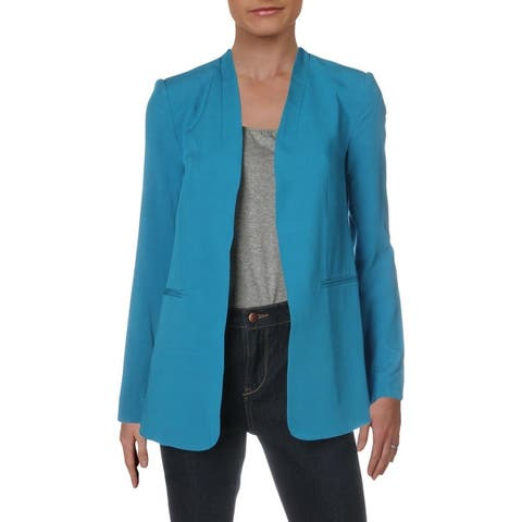 Kenneth Cole New York Womens Way To Work Blazer Open Front Vented