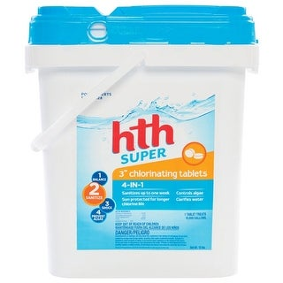 HTH 42011 Chlorinating Chemicals Tablet, 15 Lb