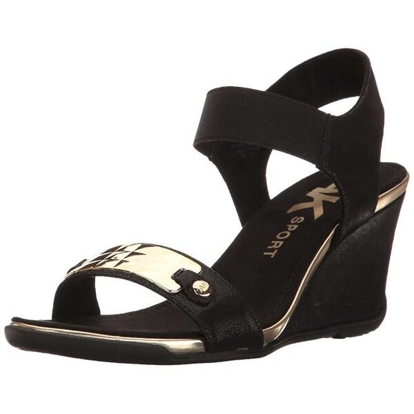 Anne Klein Womens Latasha Open Toe Casual Platform Sandals