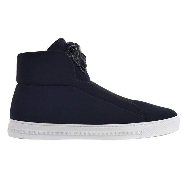 9d6e10fdb Shop Versace Mens Black Palazzo Medusa Head High Top Sneakers - Free ...