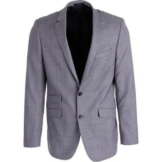 Kenneth Cole New York Mens Wool Blend Notch Collar Two-Button Blazer