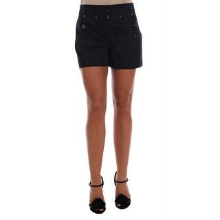 Dolce & Gabbana Black Cotton Shorts - it40-s