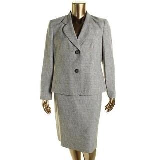 Le Suit Womens The Hamptons Textured Woven Skirt Suit - 10
