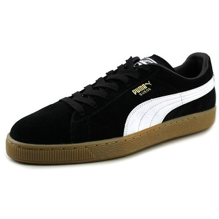 Puma Classic+ Lth Round Toe Suede Sneakers