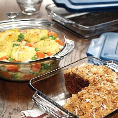 Anchor Hocking 82642Obl11 10 Pieces Clear Bakeware Oven Basics Set