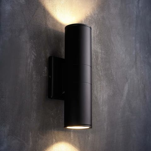 Tutum 20W LED Wall Lamp, Cylinder UP Down Light, Black
