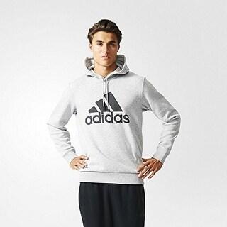 Adidas Mens Logo Hood B, Mgreyh,Black - XL