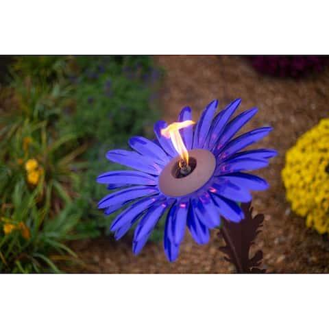 Steel Daisy Flower Garden Torch