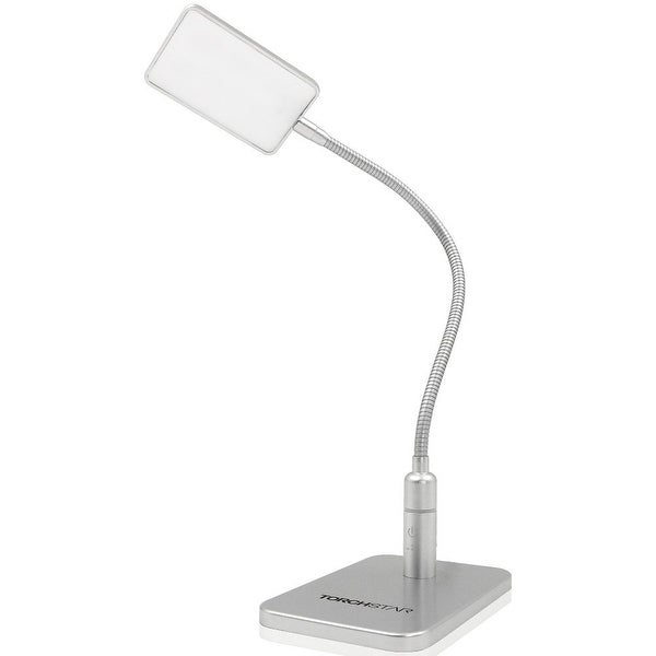 Dimmable Eye-Care Gooseneck LED Desk Lamp, 4W, 3-Level Dimmer, Touch Sensitive Control Reading Lamp w/ UL-listed Power Adapter